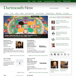 Screenshot from Dartmouth Now