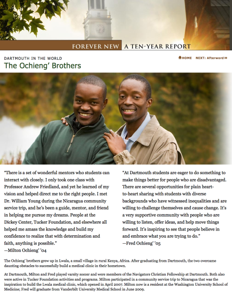 Screenshot of the Ochieng' Brothers page showing treatment of large images