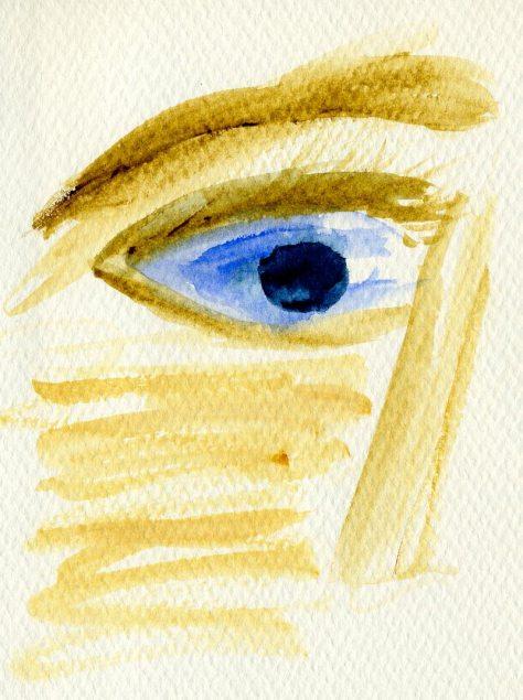 Blue Eyes watercolor